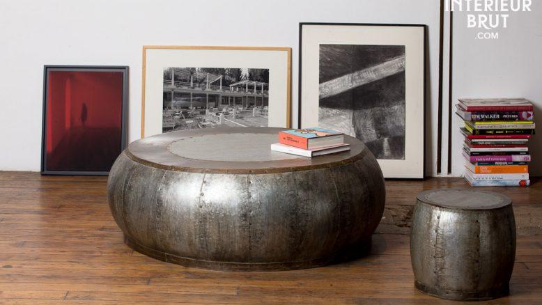 Table basse et tabouret vintage de la marque Hanjel – Produit Intérieur Brut